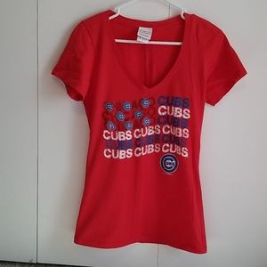 Chicago cubs v-neck tshirt